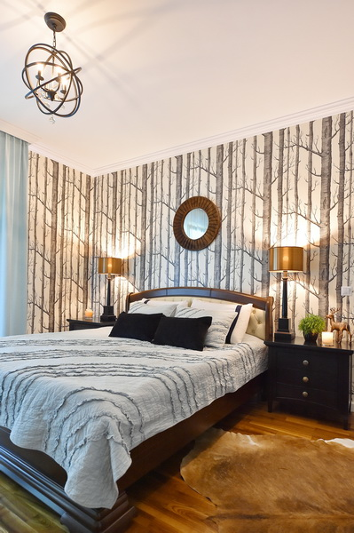 simona-ungurean-homestyling-4-interior-design-57-black-white-copper-forest-wallpaper-bedroom