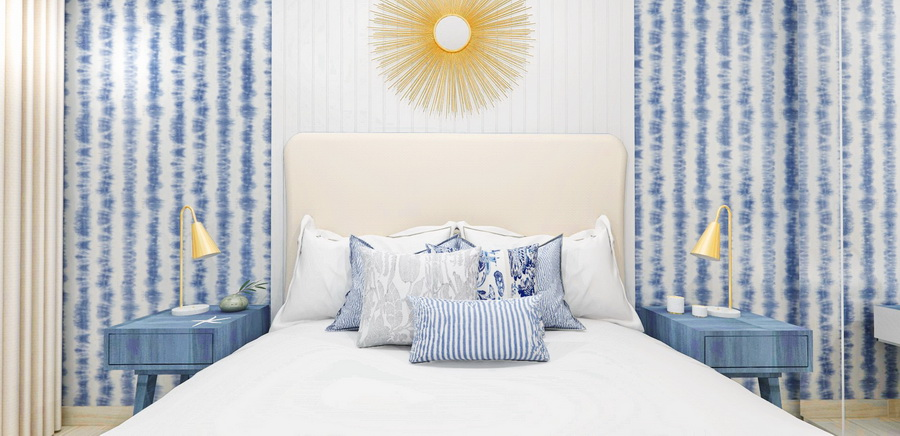 Simona Ungurean Homestyling bedroom in blue