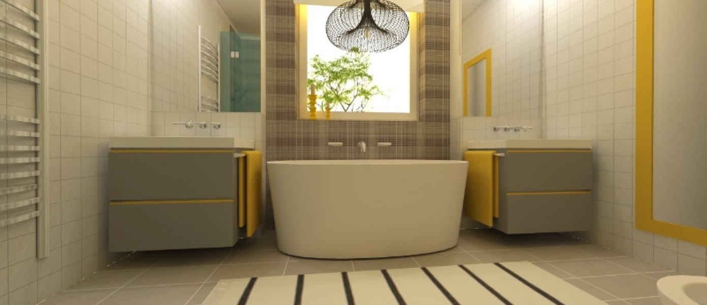 yellow-gray-bathroom